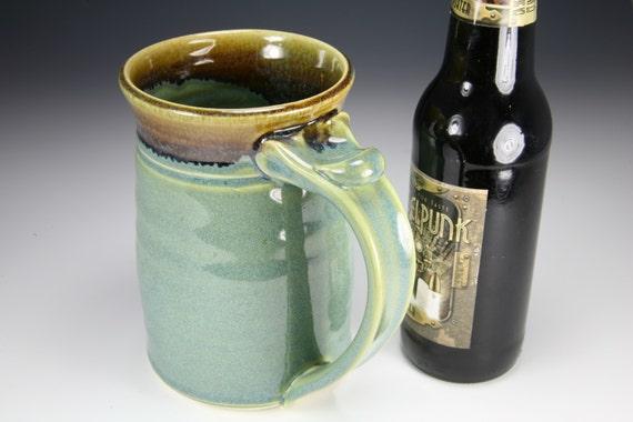 Beer mug tankard stein Green