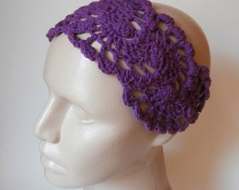 HeadBand- Crochet Headband-   Hair Fashion Accessories - Crochet HairBand in Purple