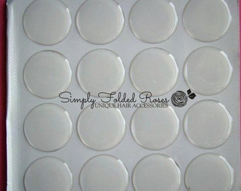 25 clear epoxy seals - 1 inch round - self adhesive - WHOLESALE