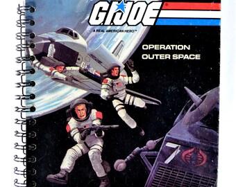 """Journal Notebook Sketchbook Vintage Recycled Repurposed """"G.I. Joe"""""""