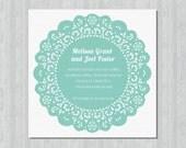 Printable Wedding Invitation - Doily