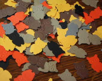 150 Owl Confetti/Die Cut/Cutout/Birthday/scrapbooking CHOOSE COLORS