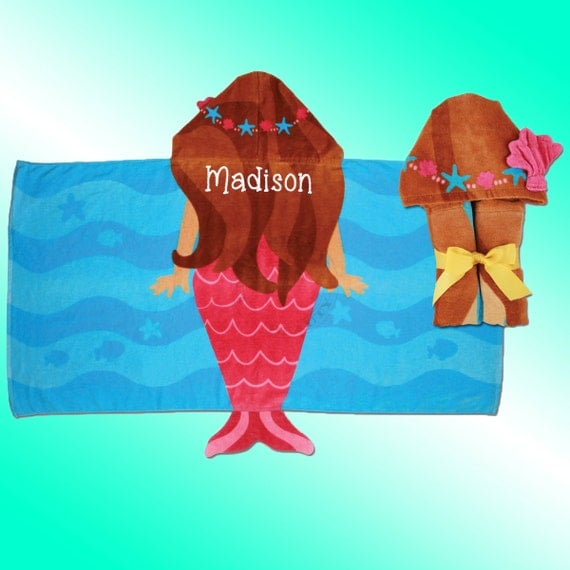 Hooded Beach Towel Personalized And By EmbroideryBeauty On
