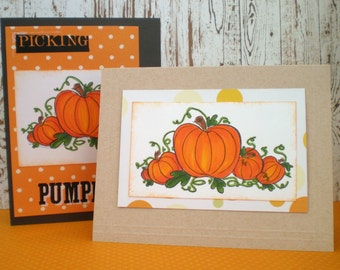 Birthday Card - October Birthday Card - Pumpkin Card - Pumpkin Patch Cards - Pumpkin Birthday Card