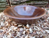 Large Walnut Wood Bowl Hand Turned Wood Bowl Large Salad Bowl  Dough Bowl Wooden Bowl Large Bowl Rustic Hand Turned Wood Bowl