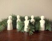 White Angels, Danish Modern, Set of Five (5)