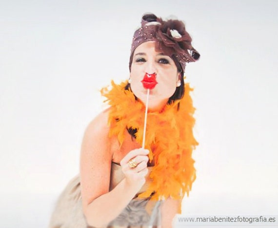 Best Wedding Party Photo Booth Props - Set of 8 Mustaches and Lips On a Stick - Choose Yourself the Props on sticks