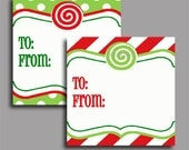Christmas Gift Tag Labels Printable - Printable Enclosure, Gift Tag or Label - Magic of Christmas Collection