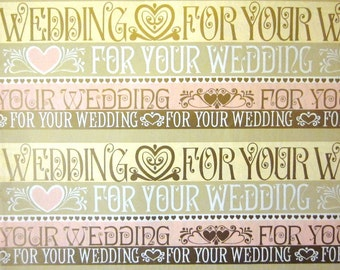 Vintage Wrapping Paper - For your Wedding font - One Sheet Gift Wrap - Hallmark