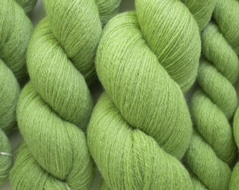Granny Smith Green Lace Weight Reclaimed Extra Fine Grade Merino Yarn - Multiple Skeins Available - 2056 Yards Available
