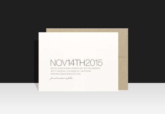 Save the Date / Wedding Announcement - Modern & Simple Typography