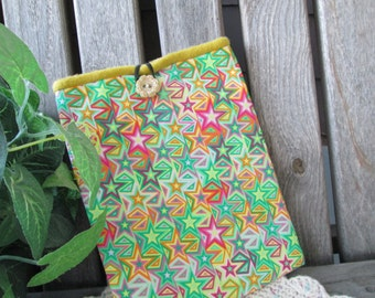 ON SALE - CLOSEOUT Kindle Fire eReader Nook Sony Sleeve Pouch Bag Clutch Pink Green Yellow Geometric Print