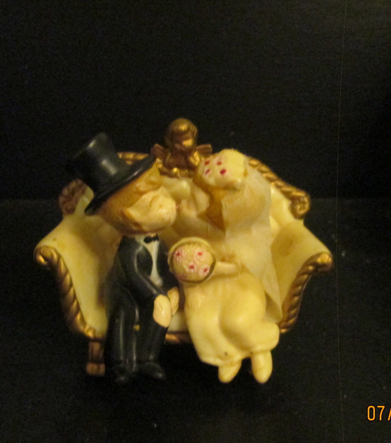 Vintage bride groom cake topper wilton wedding by lipmeister - Wilton baby shower cake toppers ...