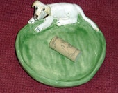 Custom dish of YOUR favorite dog, cat or critter handmade n Us from a lump of clay