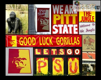 Pittsburg State collage Photo Print