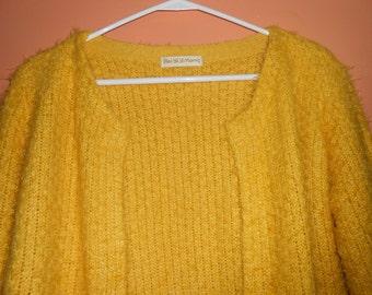 NOS Bright yellow open cardigan