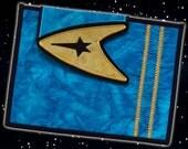 CUSTOM Star Trek Sciences Blue [Spock & McCoy] Quilted Cover/Sleeve/Case for Kindle or Other eReader
