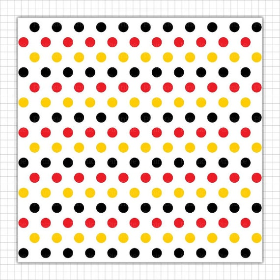Yellow And Black Polka Dot Background Black Red & Yel...