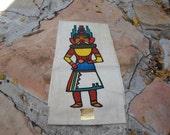 Vintage Navajo Hand Painted Baha-Zonie Fabric
