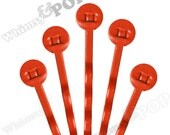 25 PACK - Bobby Pins, Deep Orange Bobby Pin Blanks, Painted Bobby Pins, Color Bobby Pins, Bobbie Pins, 50mm wide, 7mm Glue Pad (R7-145)