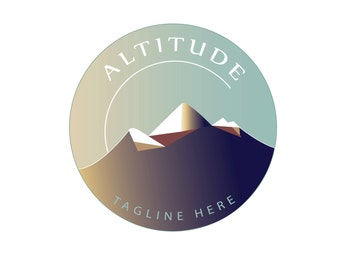 Mountain Logo Design - customizable Pre-made, OOAK logo design