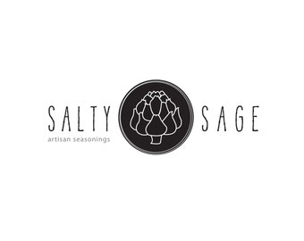 Modern Custom Pre-made Logo design for your business: OOAK - Artichoke - Sage