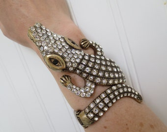 Large Alligator Bangle Wrap Bangle Bracelet