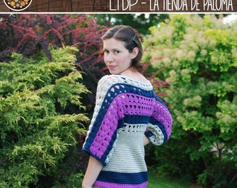 Crochet Tunic Pattern Young to Adult - Amelia Crochet Tunic Pattern - Sweater Pattern