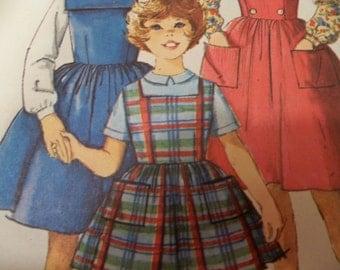 Mod 60s Size 6 Simplicity 5091 Girls Jumper Pattern Rare Pattern Girls Blouse Pattern Girls Fitted Vest Pattern Sewing Pattern Supply u