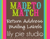 Custom Return Address Labels Made to Match any invitation design from LilyPieStudio