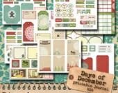 Days of December - printable christmas journal kit