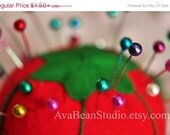 CRAZY SUMMER CLEARANCE Rainbow Pincushion - Fine Art Lustre Print