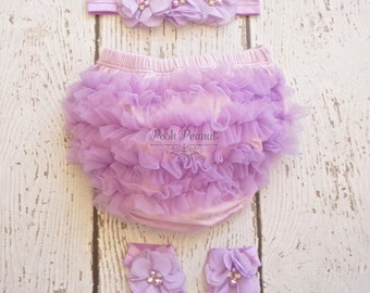 lavender Baby Bloomers - Baby Diaper Cover -Baby Girl Diaper cover set-  Lavander Diaper cover- Toddler - Baby Girl- Bloomers- infant