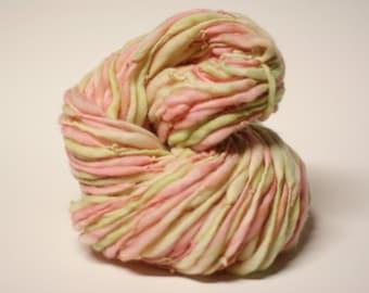Handspun Thick Thin Merino Wool Yarn tts (tm) Hand Dyed Yarn miniLR 26b