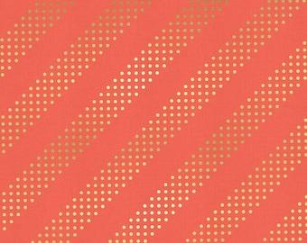Dottie in Gelato Gold Metallic, Cotton+Steel Basics, Rashida Coleman Hale, RJR Fabrics, 100% Cotton Fabric, 5002-013