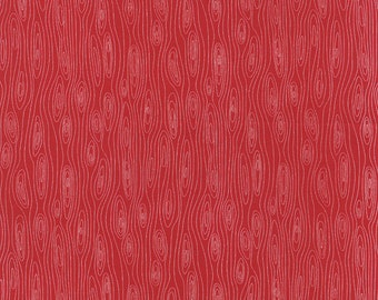 Folk Art Holiday Woodgrain in Red, Gina Martin, 100% Cotton, Moda Fabrics, 10024 11