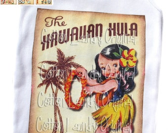 Hawaiian hula girl tshirt, tank or infant one piece Childrens Hula Girls pick your image Hawaiian