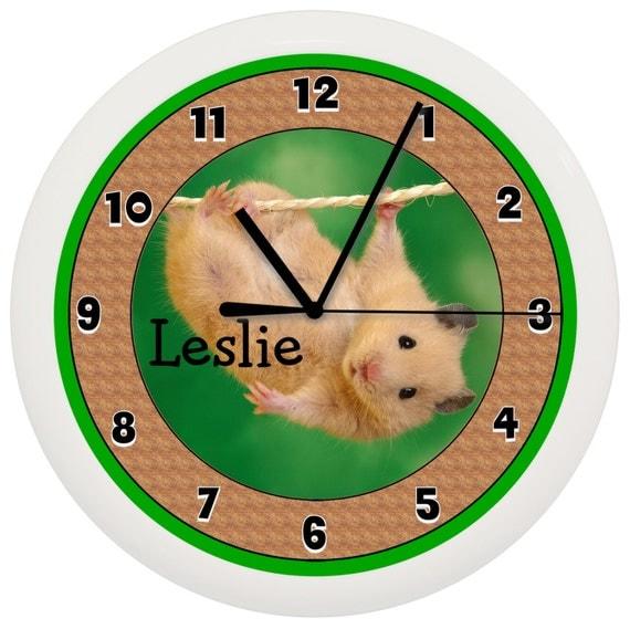 Personalized Hamster Gerbil WALL CLOCK