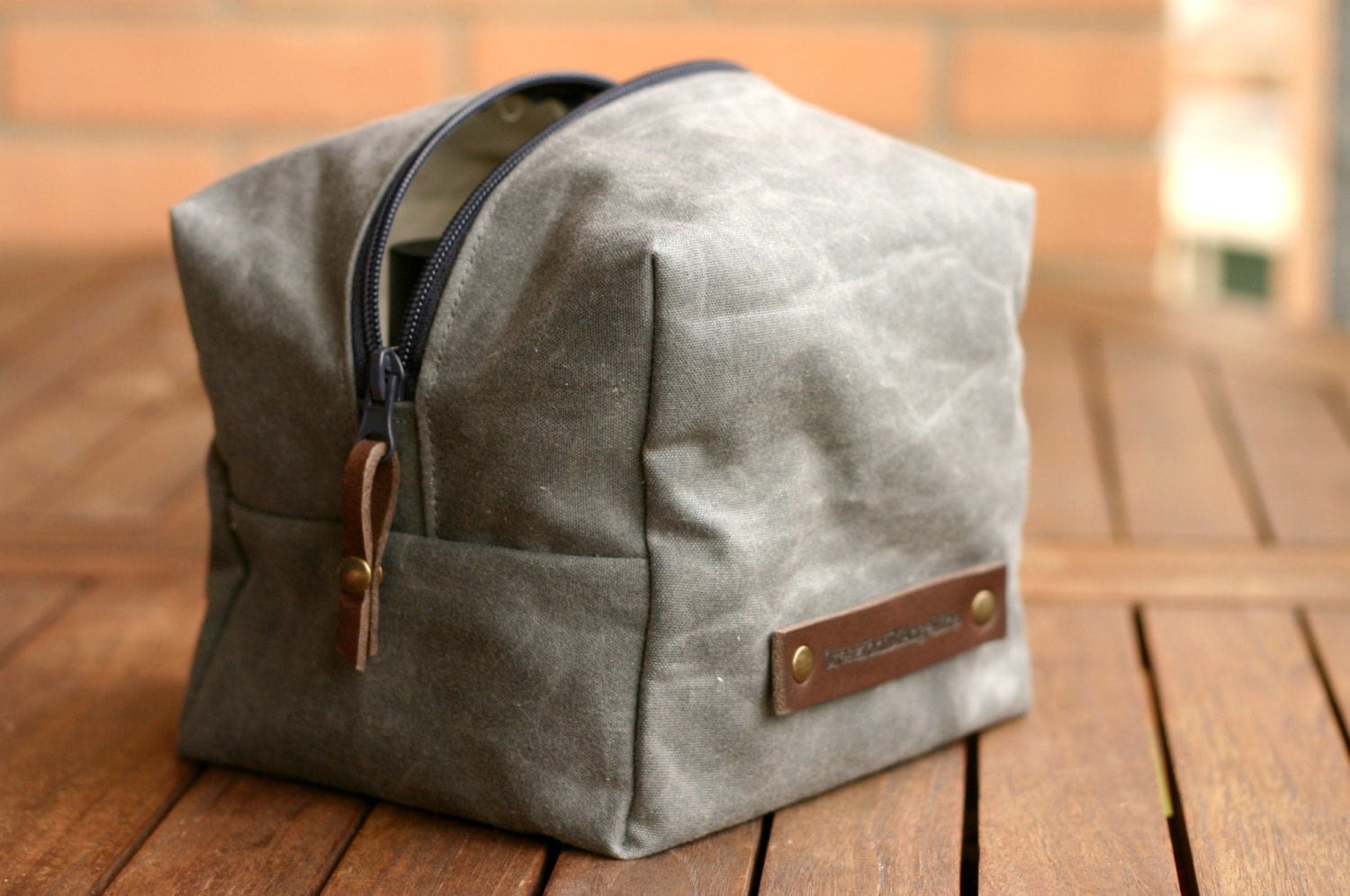 WAXED Canvas Toiletry toiletry bag Fathers day Waxed