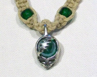 Grateful Dead Steal Your Face Marble Hemp Necklace