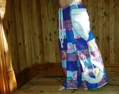 patchwork festival pants, ooak,funky trunx, hippy pants