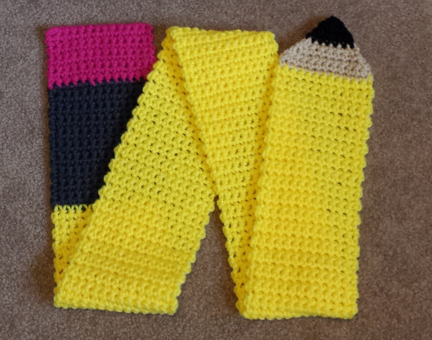 Knitting Pattern For Pencil Scarf : Pencil Scarf Teacher Gift Back to School Crochet