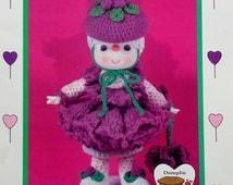 Dumplin Designs RASPBERRY FLUFF From Lollipop Lane - Crochet Doll Pattern
