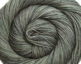 sw merino nylon high twist sock yarn STERLING hand dyed fingering weight 3.5oz 400 yards
