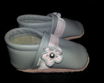 soft sole baby leather shoes flowers