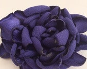 Eggplant Purple Flower Clip