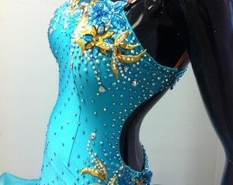 Dance Dresses    Latin dance dresses  Blue Dance Dresses
