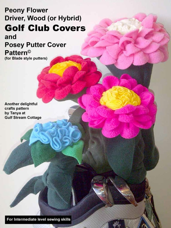 Golf Club Head Covers Flower Sewing Pattern By