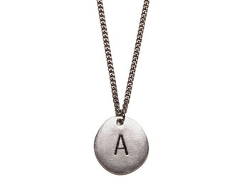 Initial Necklace for Men - Personalized Jewelry - Silver initial pendant - Silver Chain for Men - Custom initial jewelry for men- Custom.