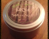 Sandalwood Scented Soy Wax Candle - 8oz Tin Scented Candle